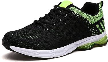 ZapatillasRunningpara Hombre Aire Libre y Deporte Transpirables Casual Zapatos Gimnasio Correr Sneakers Verde 39-45