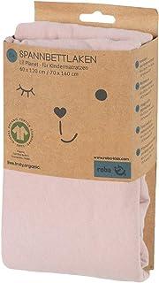 roba 0262GJ226 innerlakan för barnmadrass 70 x 140 cm, Single Jersey, 100% bio-bomull, rosa/meg, rosa, 300 g