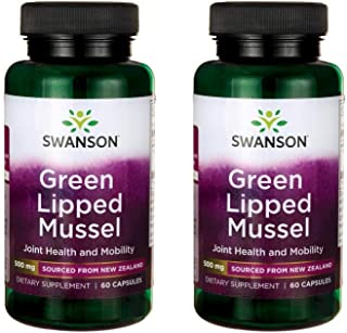 Swanson Green Lipped Mussel 500 mg 60 Caps 2 Pack
