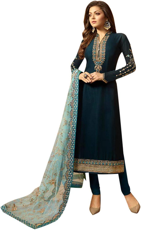 Ethnic Designer Silk Jaquard Indian Straight Salwar Kameez Muslim Festive Bespoke Tailoring Available 7191 5