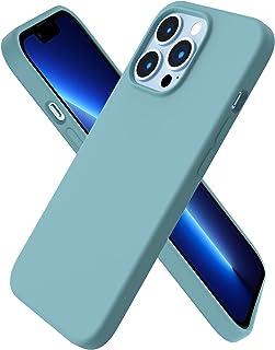 ORNARTO Compatibel met iPhone 13 Pro Case 6.1, slank vloeibaar siliconen 3 lagen volledig bedekt zachte gel rubberen hoes ...