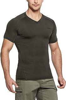 Tesla Men's Cool Dry Compression Baselayer Short Sleeve T Shirts