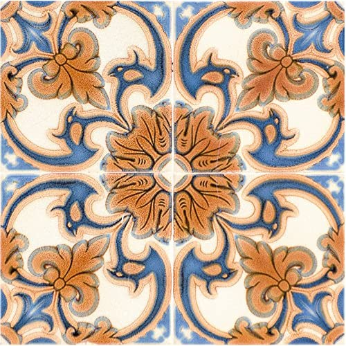 Art Deco Floral Tile Easy To Use Architectural & Garden