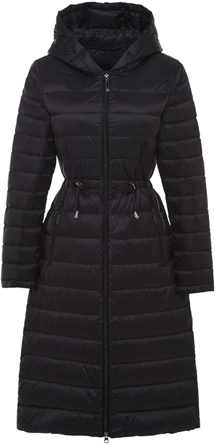 Little Happiness Woman Long Jacket Female Hooded Ultra Light Padded Jackets Winter Down Coat Casual Parkas Solid