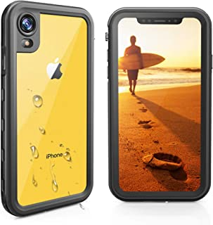 iPhone XR Case with Built In Screen Protector,iPhone XR Waterproof Case,Full Body,Rugged,Underwater Protective ,Shockproof Dropproof Dustproof Snowproof Clear Cover for iPhone XR Cases 6.1 Inch