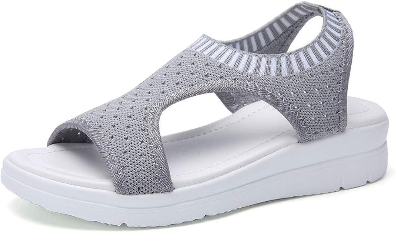 NURJOR Women's Summer Open Toe Comfort Flat Espadrille Sandals