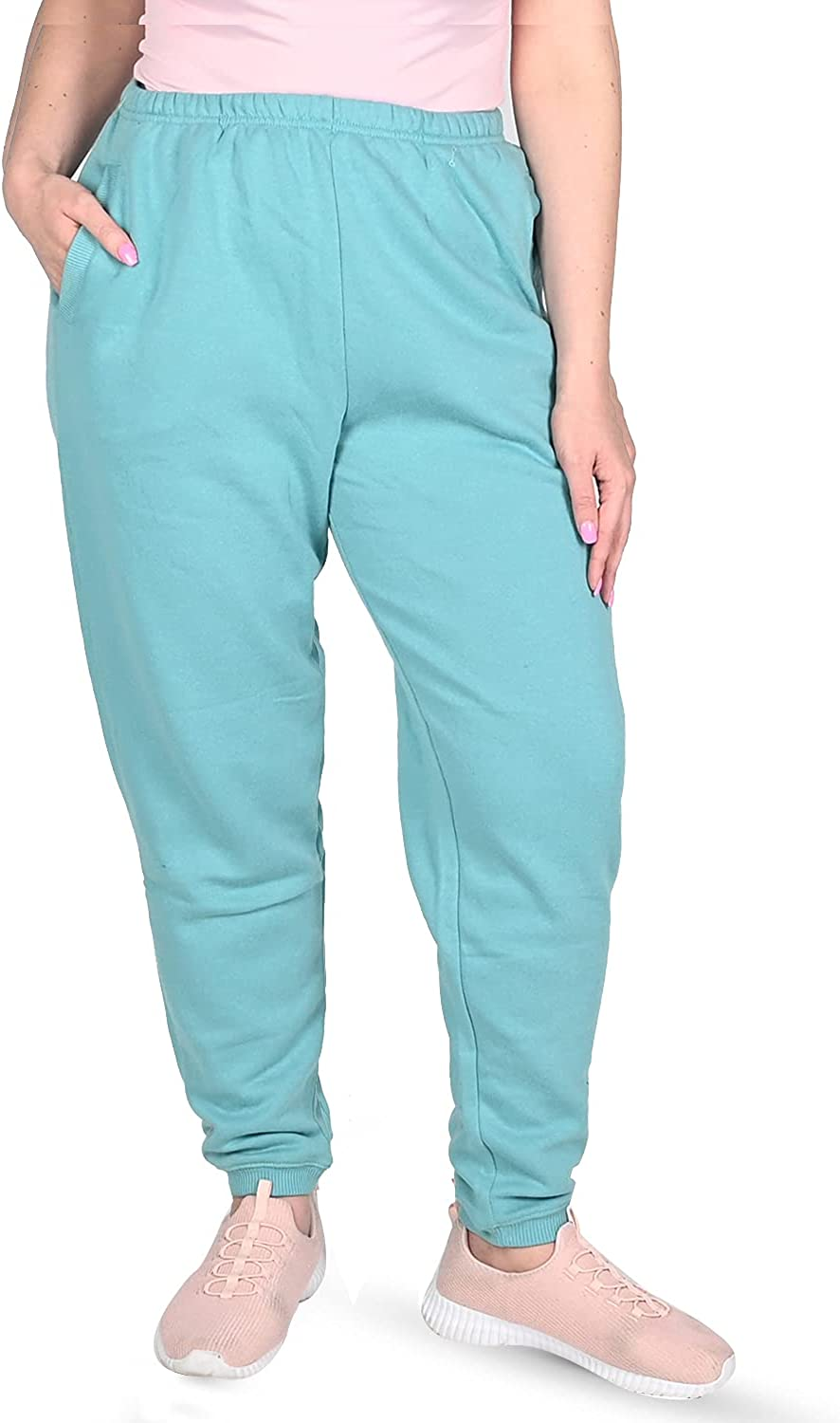 Shop LC Jovie Seafoam Fleece Polyester Cotton All stores are sold Elasti Max 71% OFF Pant
