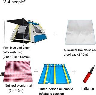 4人用テント防水、ポーチ付きの4人用寝室ファミリートンネルテント広い公共エリアセットアップが簡単な屋外キャンプ用の耐UV耐久性防雨
