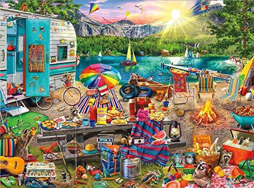 500 Teile Puzzles für Erwachsene, Familien-Camping, gute Sammlungen und Geburtstagsgeschenke (Familien-Camping).