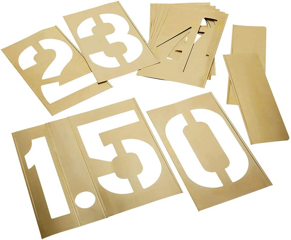C.H. Hanson Numbers Don't miss the campaign 12-inch Stencils New item Brass