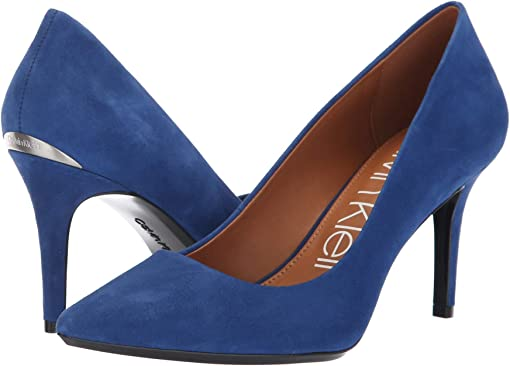 Adrenaline Blue Leather Suede