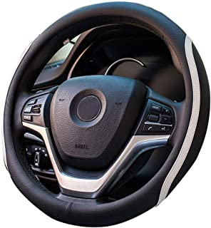XiXiHao Punching car Steering Wheel Cover Set Four Seasons General auto Black White