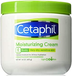 Cetaphil Moisturizing Cream for Dry/Sensitive Skin, Fragrance Free 16 oz