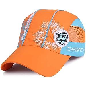 3857113d81b746 [Lovechic] 帽子 キッズ サッカー キャップ ジュニア メッシュ スポーツ 夏 速乾 通気性