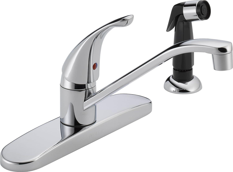 peerless p115lf classic single handle kitchen faucet chrome