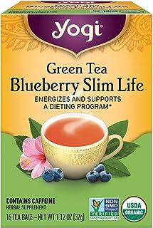 Yogi Tea, Green Tea Blueberry Slim Life, 16 Count