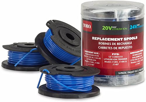 popular Toro 88524 popular 3-Pack Replacement new arrival Spools Trimmers, 20/24-volt, 12-Inch outlet sale