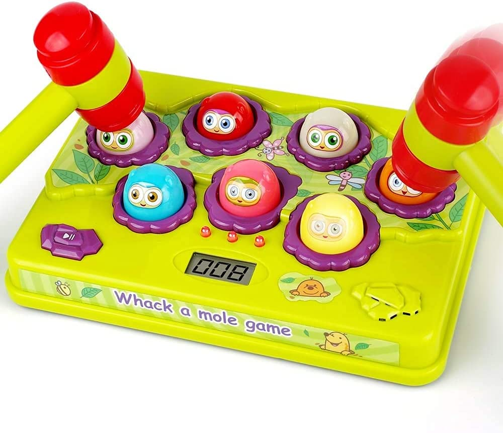 YIGOOOOOD Interactive Pound Max 42% OFF a Mole Game Light-Up Toys Lowest price challenge Toddler