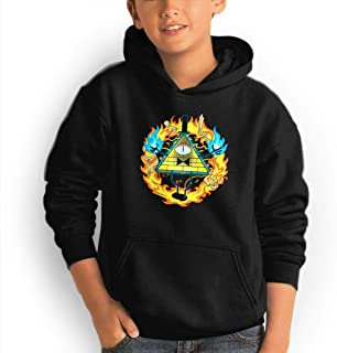 Youth Hoodie Gravity Falls Bill Cipher 100% Cotton Casual Long Sleeve Sweatshirt Pullover with Pockets for Boys and Girls