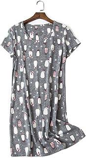 Pijama de Mujer Pijama de Pijama de Manga Corta Traje de Verano para el hogar Ropa de Dormir de algodón Estilo de Dibujos Animados Ropa de Dormir para Damas Niñas
