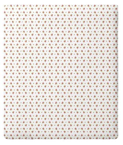 Pip 8715944088725 Spannbettlaken - rosas 140 x 200, Baumwolle Weiss (White)