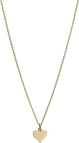 14KT Solid Gold Mini Heart Necklace