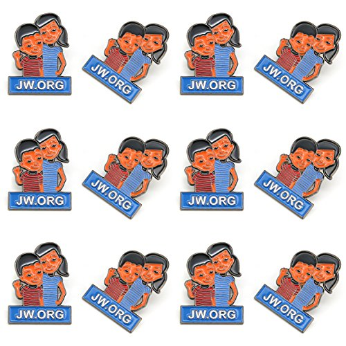 JW.org Caleb and Sophia Pin Become Jehovah's Friends-Kids pin-12 Pack