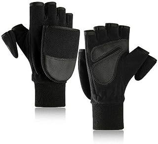 Men Fingerless Glove Touch Screen Mittens Winter Warm Half Finger Gloves Texting Smartphone Gloves Flip Flop Mittens Glove...