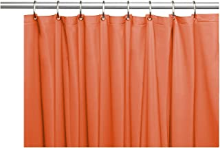 Venice Elegant Home Heavy Duty Vinyl Shower Curtain Liner with 12 Metal Grommets Rust
