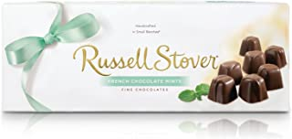 Russell Stover French Chocolate Mints Box 10 Ounce Russell Stover Candy, French Mint Chocolate Candy Box; Melt in Your Mouth French Mint Covered in a Rich Chocolate Candy Gift Box