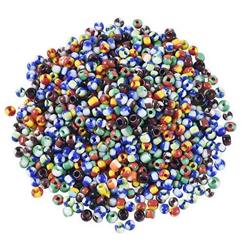 Fashewelry 1600 cuentas de cristal 8/0 de colores opacos para cuentas de semillas de pony, varios colores, para hacer pulseras, collares, manualidades, suministros de joyería