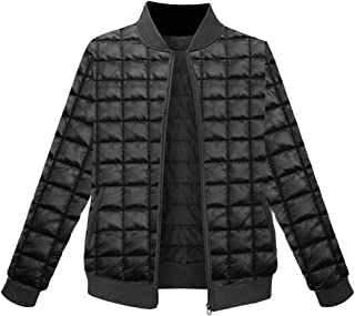 Womens Winter Warm Quilted Down Padded Bomber Jackets Coat