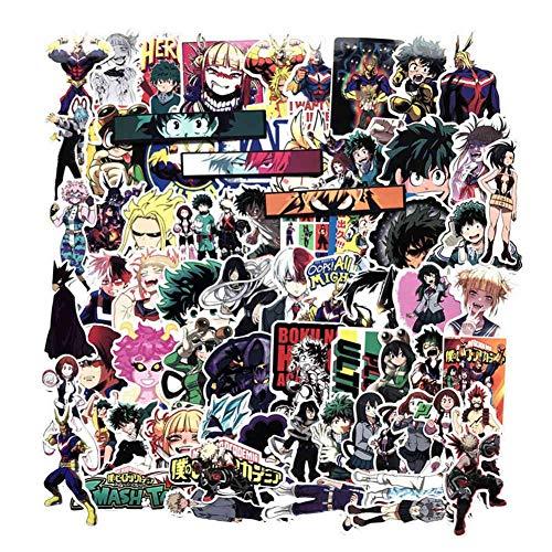 yangzhoujinbei Cute My Hero Academia Stickers Waterproof Adhesive Vinyl Sticker for Laptop, Macbook, Luggage, Skateboard (70 pieces)(1)