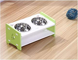 Ljwy Cat Bowl, 2 Overhead Dog Bowl - Feeder with Waterproof Seal (Short 4