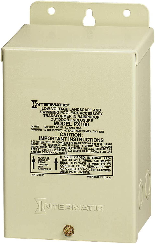 12V変圧器にINTERMATIC PX100 120V