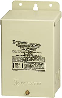 Intermatic PX100 Pool Light 100-Watt Safety Transformer, Beige