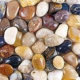 Vellenty Products - Piedras para acuario (2 libras), diseño de piedra de río de grava, piedra natural pulida, piedras decorativas para terrario, macetas, jardinería, y sustrato de acuario, etc.