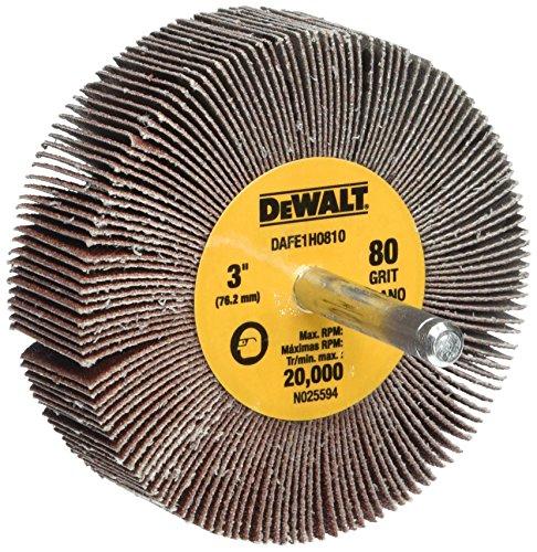 DEWALT Flap Wheel, 3-Inch x 1-Inch x 1/4-Inch HP, 80-Grit (DAFE1H0810)