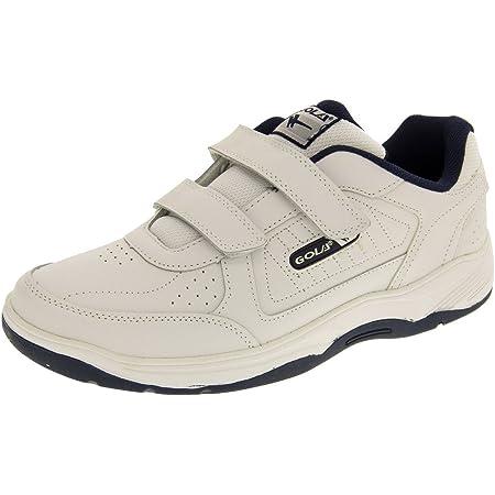 Gola Belmont Rip Tape Wide Fit Mens Trainer - White/Navy - UK 7-EU 41-US 8