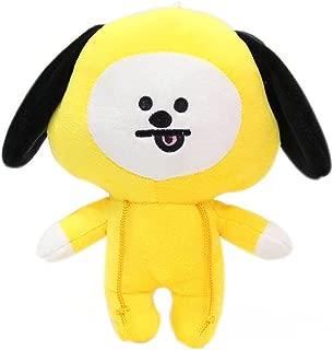 Teblacker BTS Plush Toy, Kpop Bangtan Boys TATA, KOYA, Van, SHOOKY, CHIMMY, Cooky, MANG, RJ Soft Cotton Plush Pillow for Sofa, Bedroom, Living Room and Car( Style A - CHIMMY)