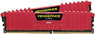 Corsair Vengeance LPX 32GB DDR4 DRAM 3200MHz C16 Memory Kit, Red (CMK32GX4M2B3200C16R)