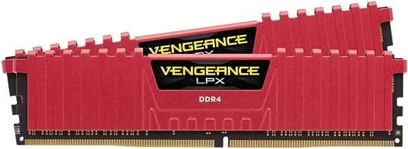 Corsair Vengeance LPX 16GB (2x8GB) DDR4 DRAM 2400MHz C16 Desktop Memory - Red