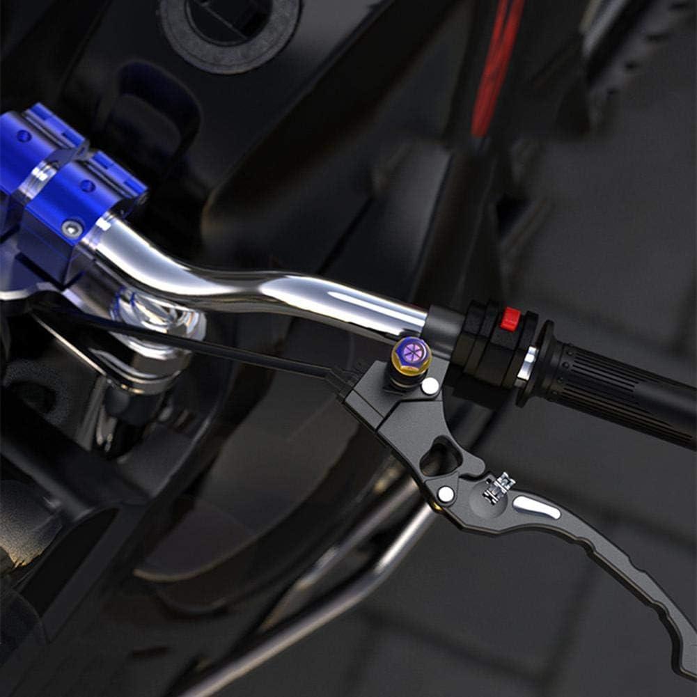 Teabelle 2Pcs Motocicleta M10 CNC Espejos retrovisores Agujero Tornillos Tap/ón Anti Decorar TapaTitanio