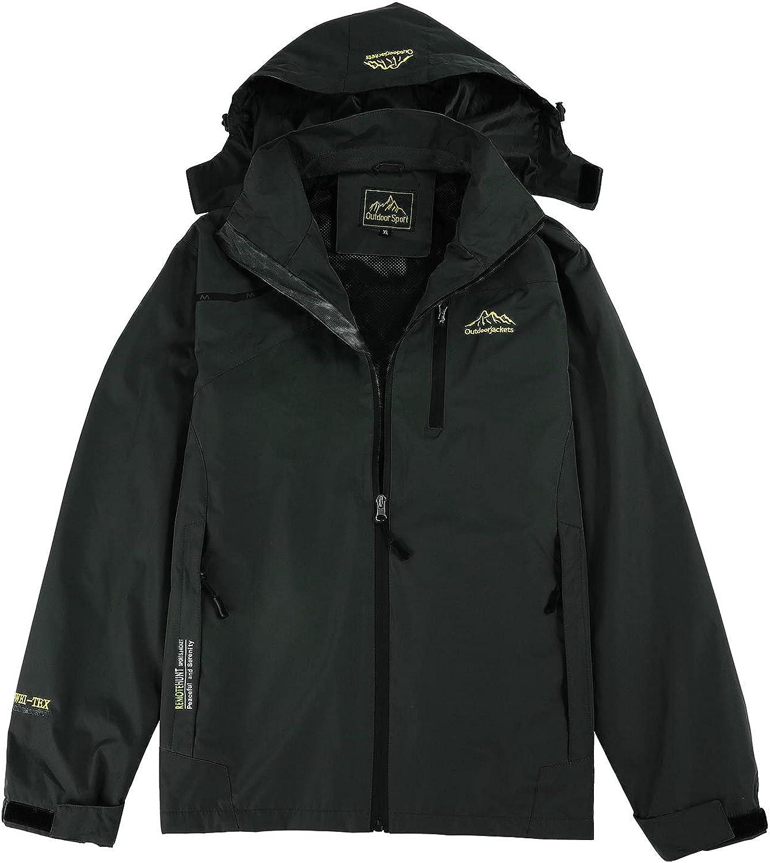 Esbelle Couple Matching Rain Jacket Waterproof with Hood Lightweight Outdoor Hiking Jacket Thin Windbreaker Hoodies Coat