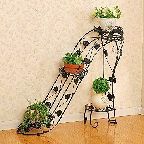 XIAOLIN- fer racks de fleurs Des couches multiples Type de talons hauts Rack pot de fleur Intérieur et extérieur salle de séjour balcon créatif étagère Fleur --Cadre de finition de fleurs ( Couleur : 1 , taille : 90*25*80cm )
