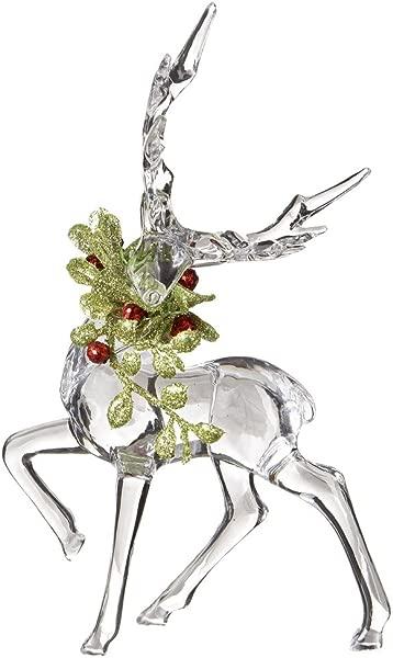 Ganz Kissing Krystals Christmas Acrylic 6 Mistletoe Reindeer Figurine