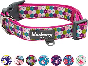 Blueberry Pet 12 Patterns Soft & Comfy Flower Print Neoprene Padded Dog Collars, Harnesses or Leashes