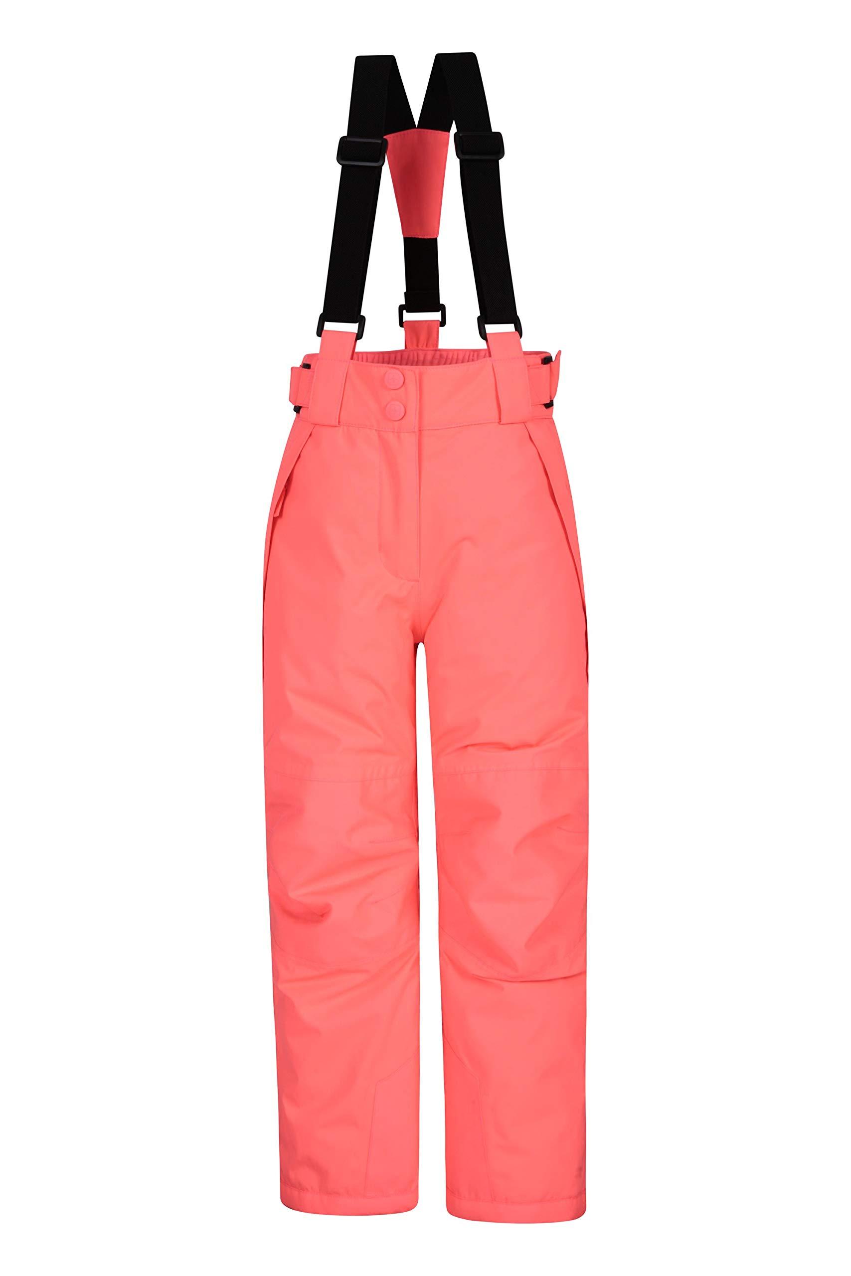 Mountain Warehouse Pantalon de Ski Enfants Falcon Extreme - Coutures soudées, Imperméable, Guêtres Pare-Neige, Poches sécurisées - Idéal pour Le Ski et Les Vacances