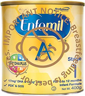 Enfamil A+ Stage 1 Infant Milk Formula 360 DHA+, 0-12 months , 400g