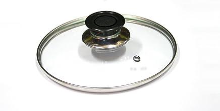 Takestop® Tapa Cristal templado diámetro 14 cm para sartén olla cacerola sartén sobre Gas placa